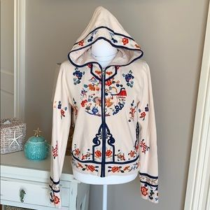 Lucky Brand embroidered hooded sweatshirt Size M